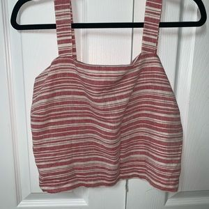 { Nordstrom BP} NWT Red Striped Tank